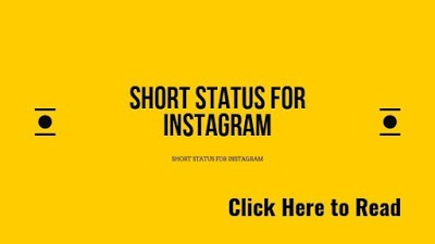 Latest Short Status For Instagram Updated 2020 By Quotes And Captions Medium