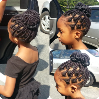 African Threading Hairstyles For Kids Using Brazilian Wool Thread Hair By Black Kitty Family Medium