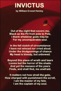 Invictus By William Ernest Henley An Analysis Fine