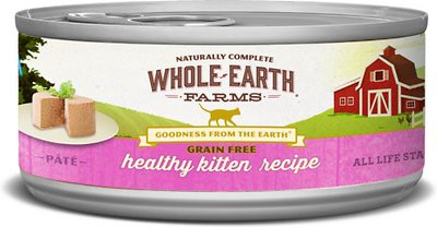 Whole Earth Farms Grain-Free Real Healthy Kitten Foods Recipe Canned Cat Food