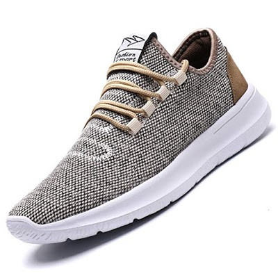 Vamtic Mens Sneakers Fashion Minimalist Lightweight Breathable Athletic Running Walking Shoes Slip-On for Tennis Volleyball Gym