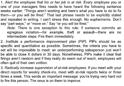 how to fire an employee: excerpt from Startup CEO Guide