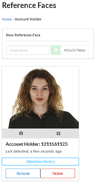 Photograph of the account holder stored as a reference face