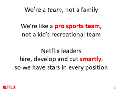 how to fire an employee: netflix culture deck