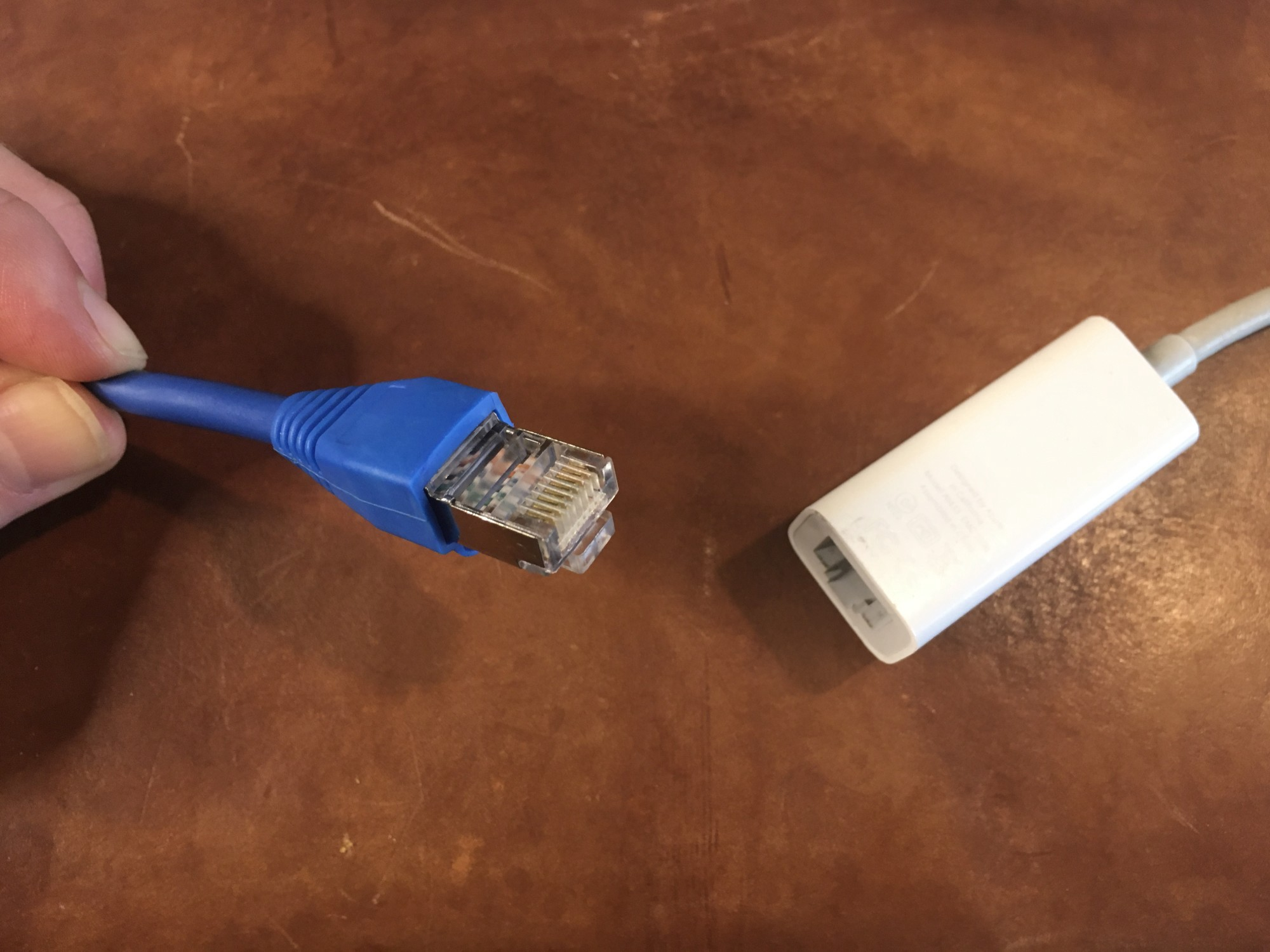ethernet cable to plug in
