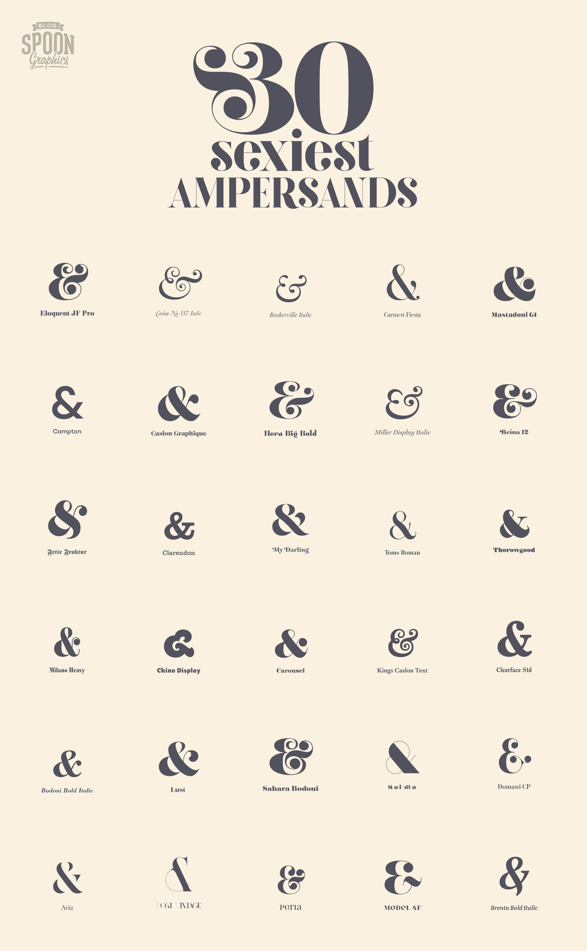 My Top 30 Fonts with the Sexiest Ampersands - Faizan Bhatti