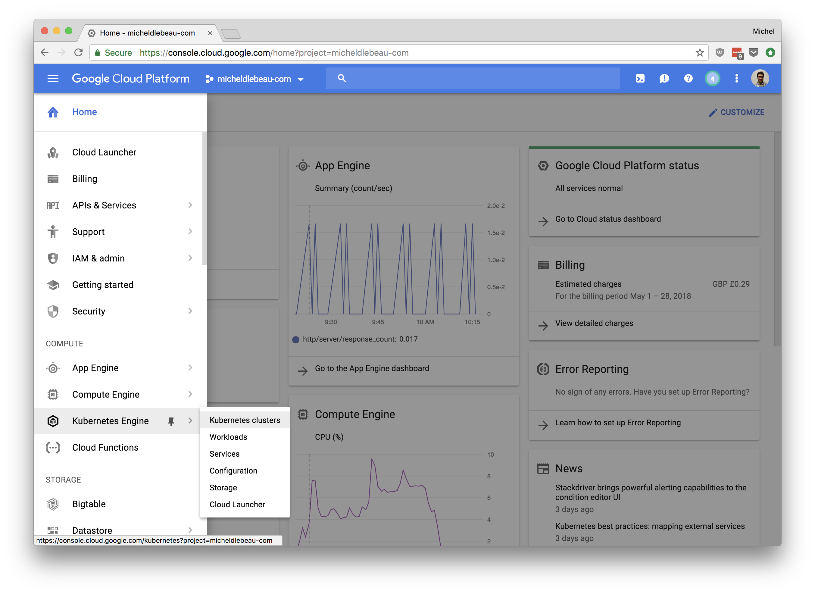 Google Kubernetes Engine, load-testing and auto-scaling with