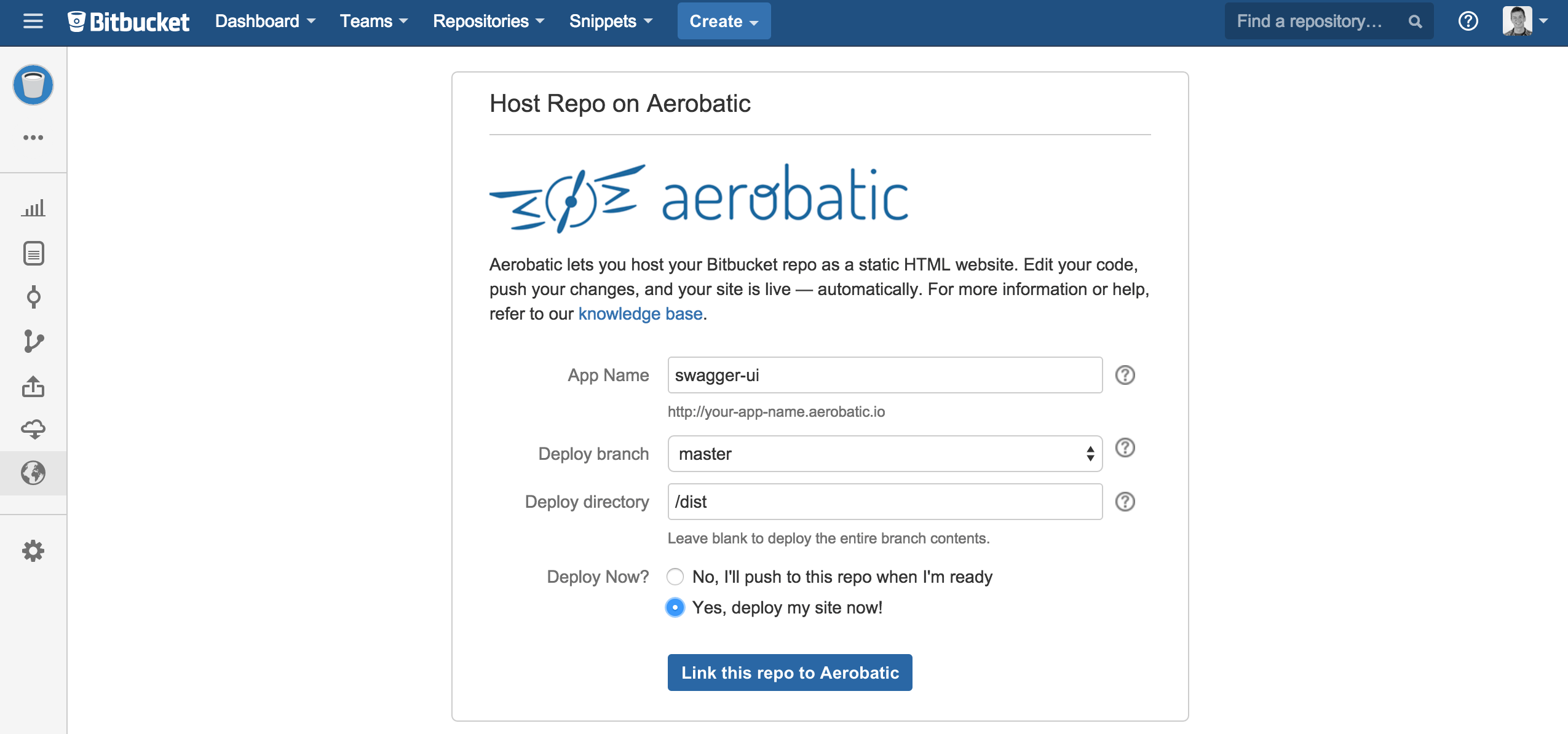 Hosting Swagger API Documentation with Bitbucket - Aerobatic