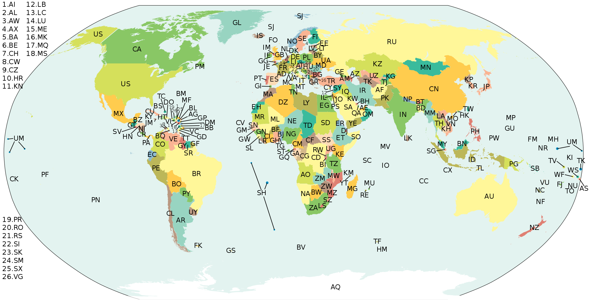 Managing geographical data: ISO3166, UN/LOCODE and GeoNames