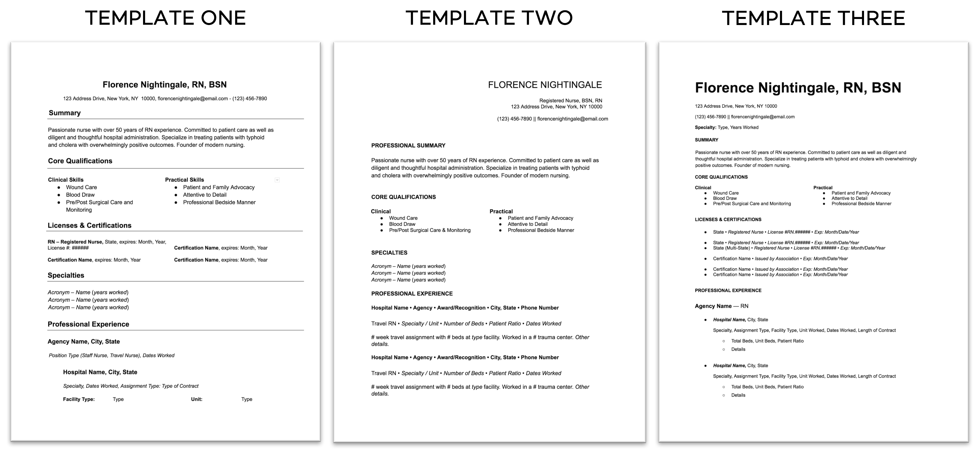 nurse resumes  free templates  u0026 best practices - nomad health
