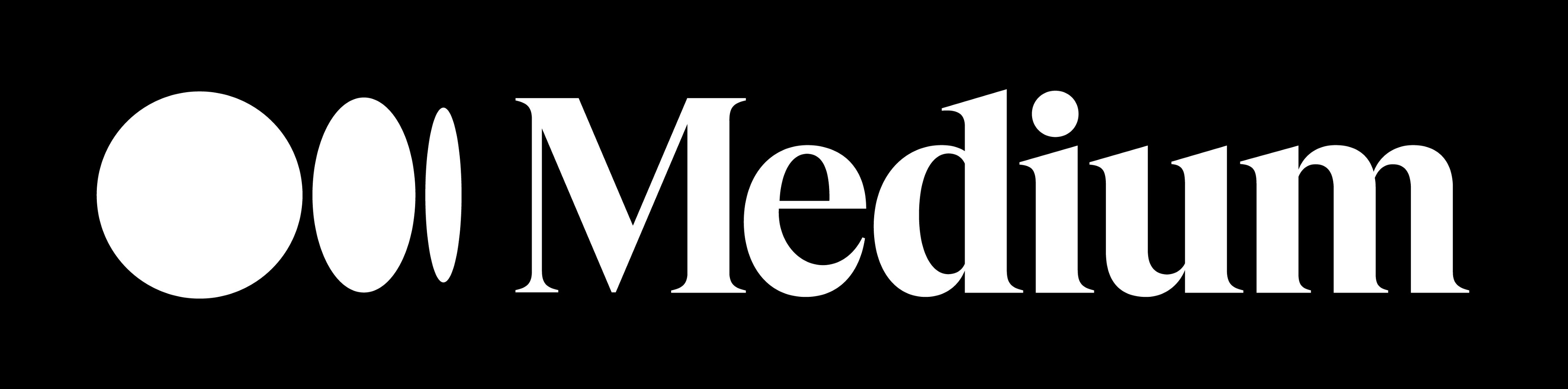The Medium logo, white on a black background.