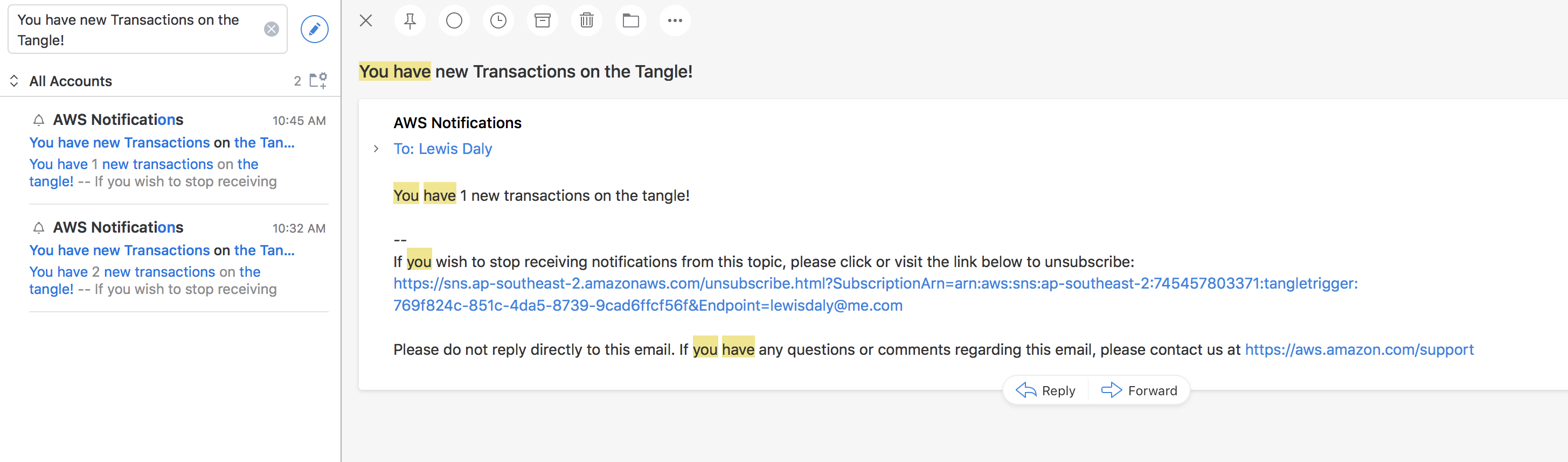 Triggering Email alerts from the IOTA Tangle - Coinmonks