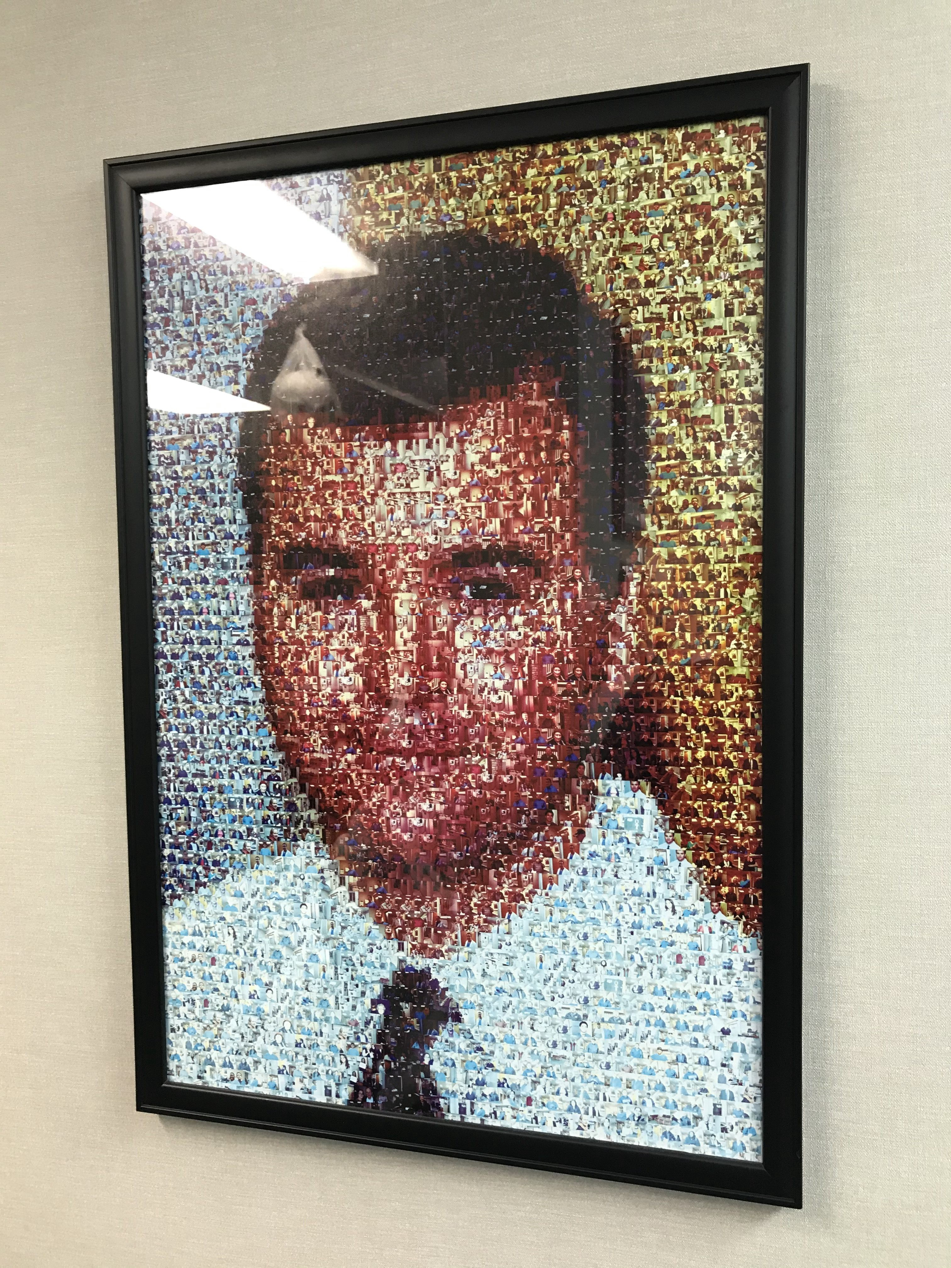 Dr. Mark R. Fleckner portrait out of tiny pictures