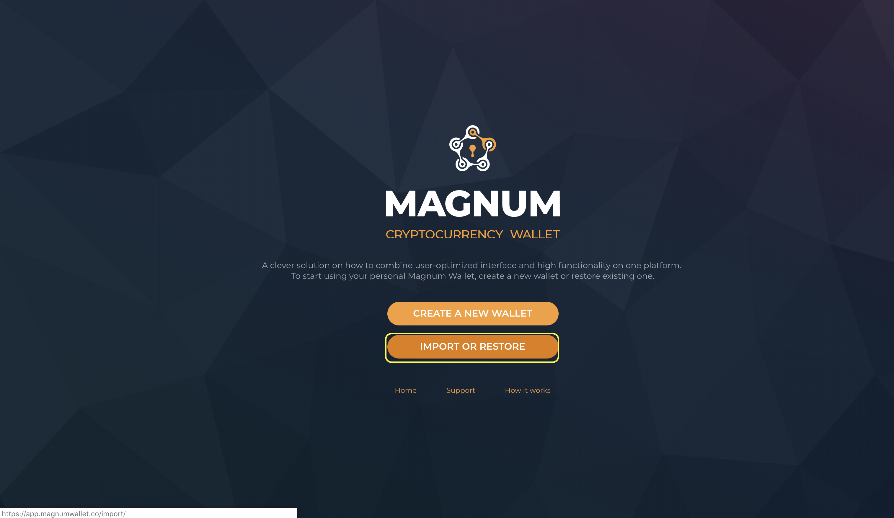 How to claim KMD rewards with Ledger on Magnum Wallet