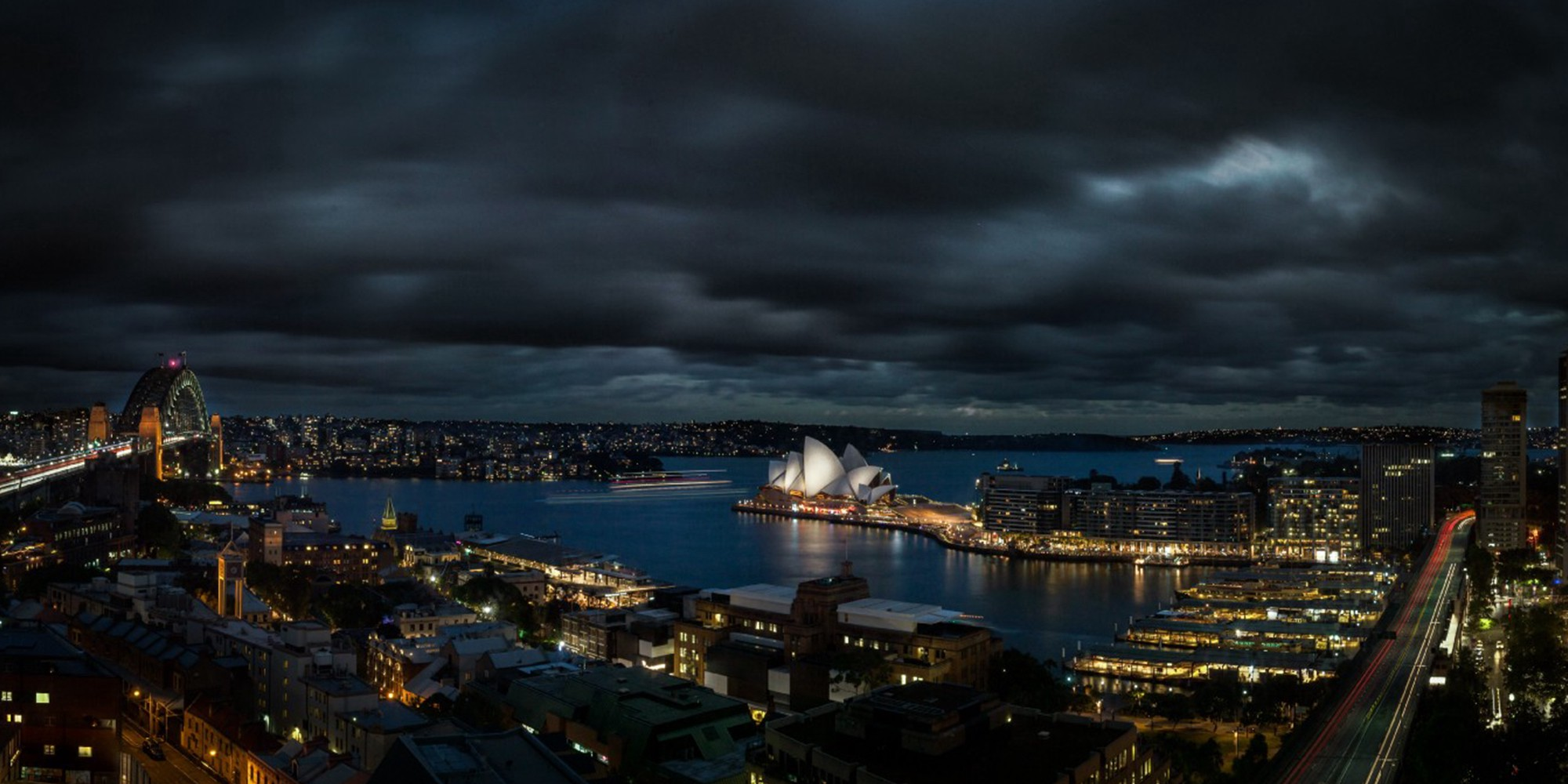 An image from the Sound Off Voice Journal App of Sydney opera house in Australia at night.