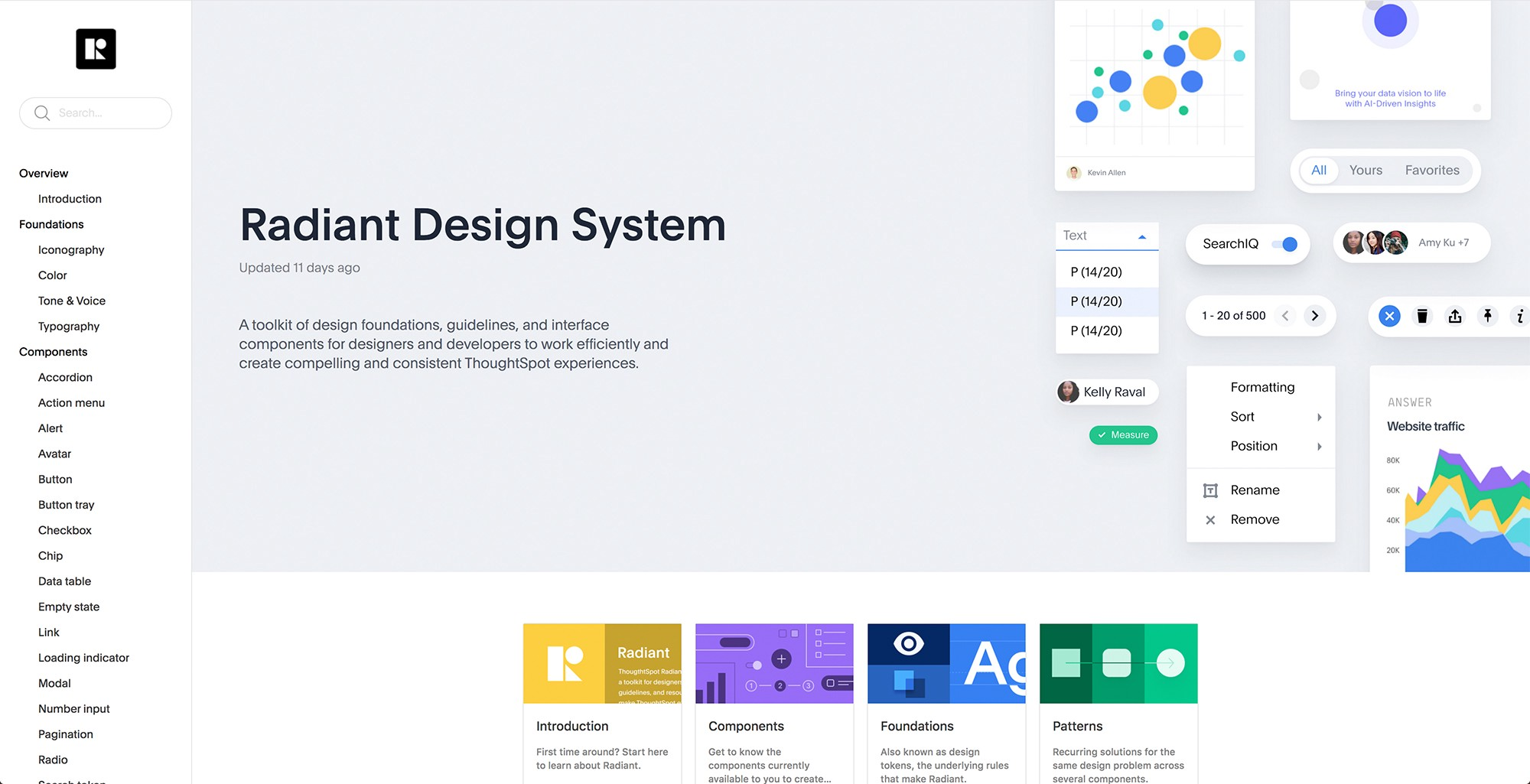 Radiant documentation portal
