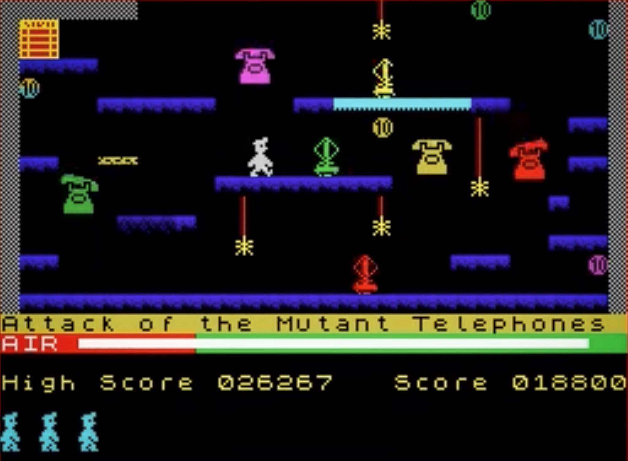Screen from Manic Miner game