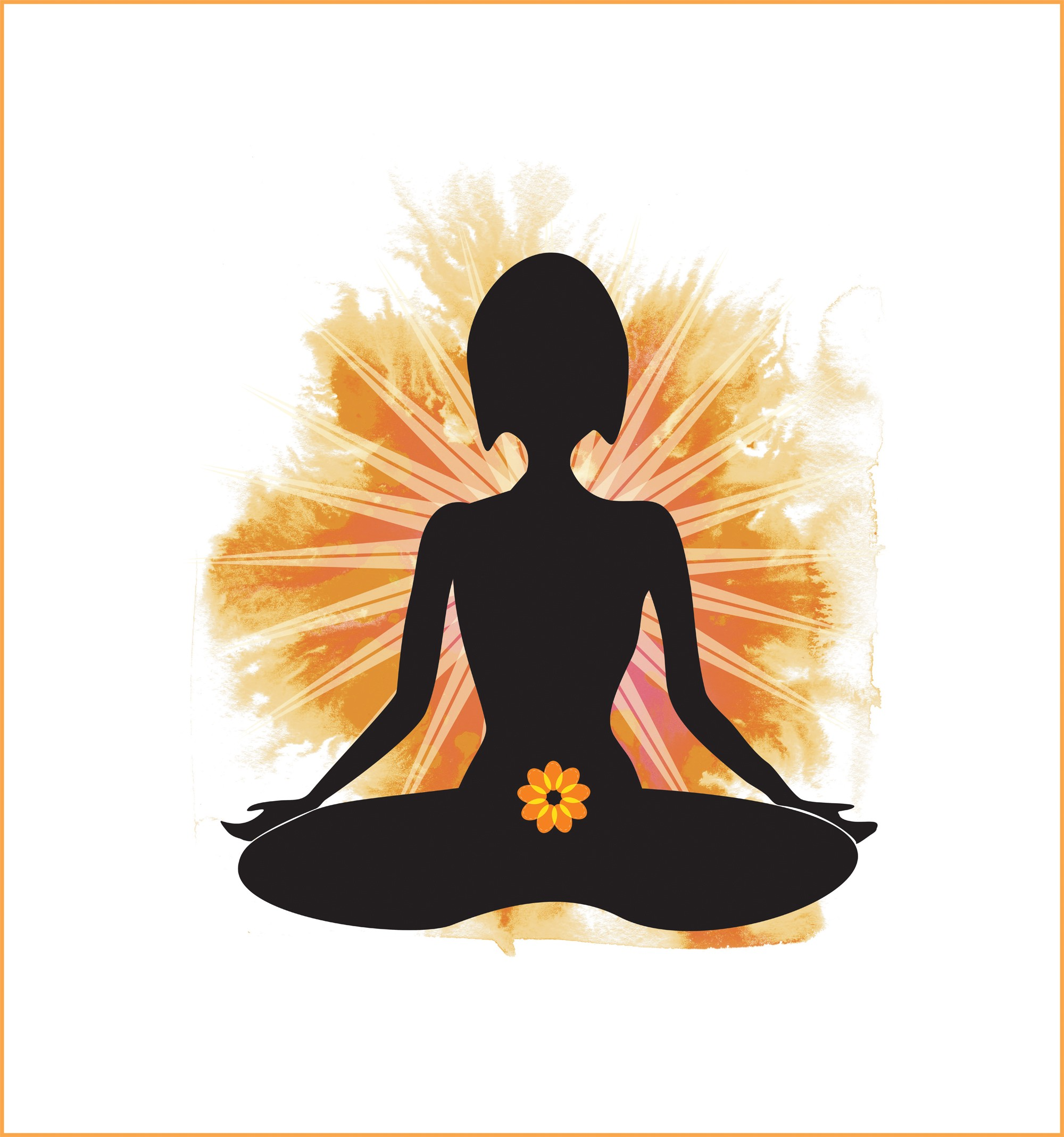 Women get their power from the second, or sacral, chakra, pictured here