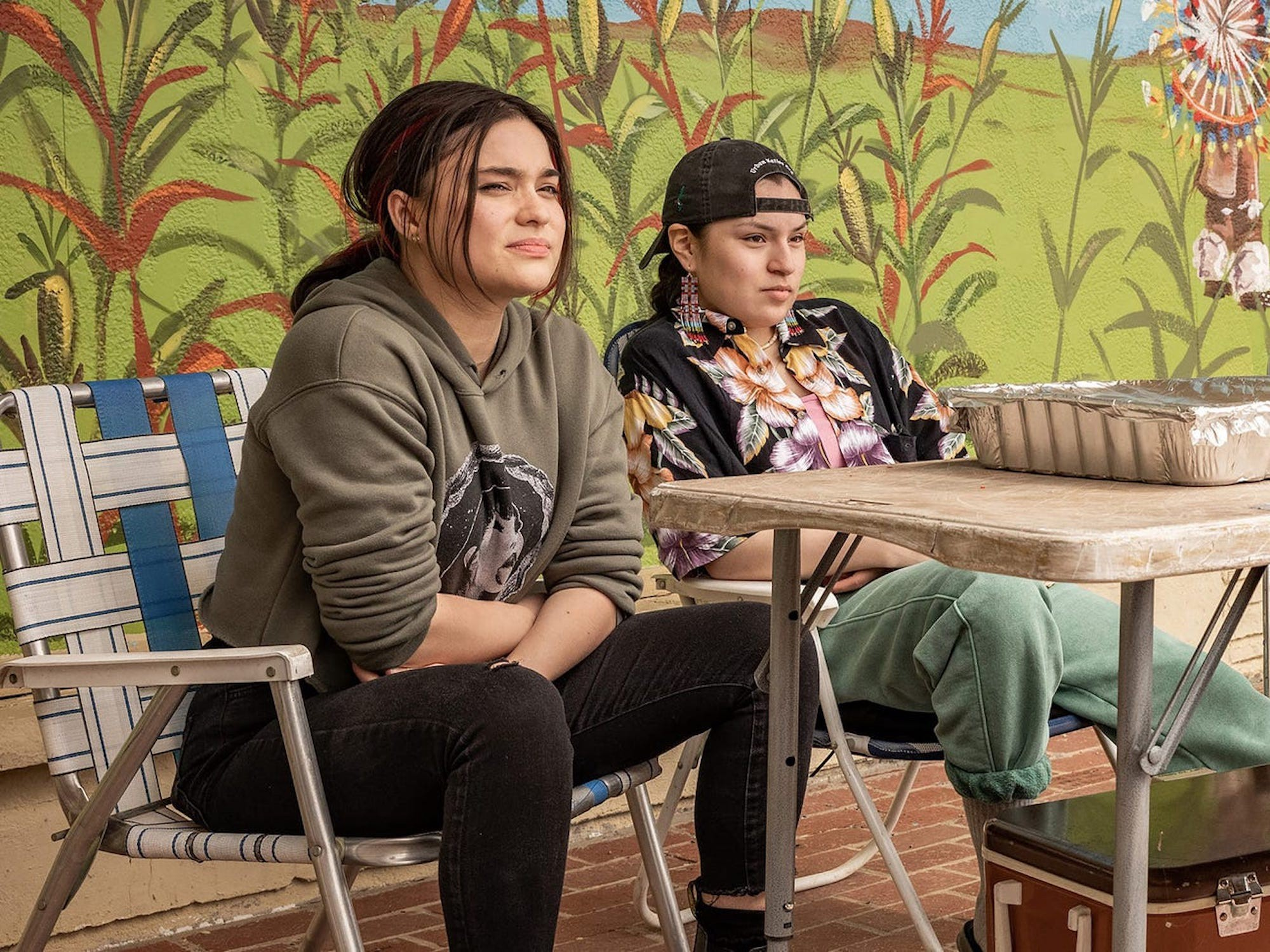 """Devery Jacobs and Paulina Alexis star in """"Reservation Dogs"""" on FX."""