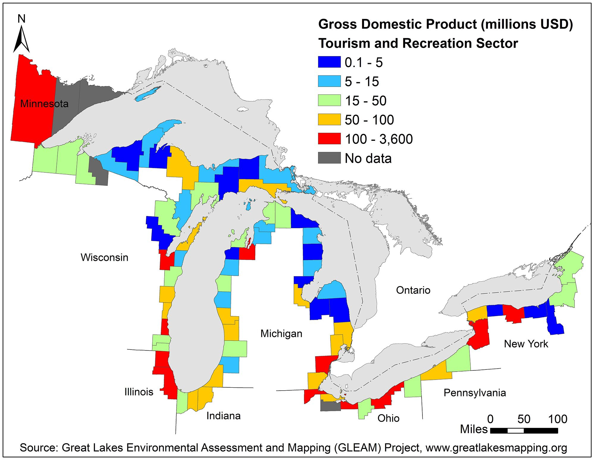 New, ultra-detailed maps of Great Lakes recreational use ...