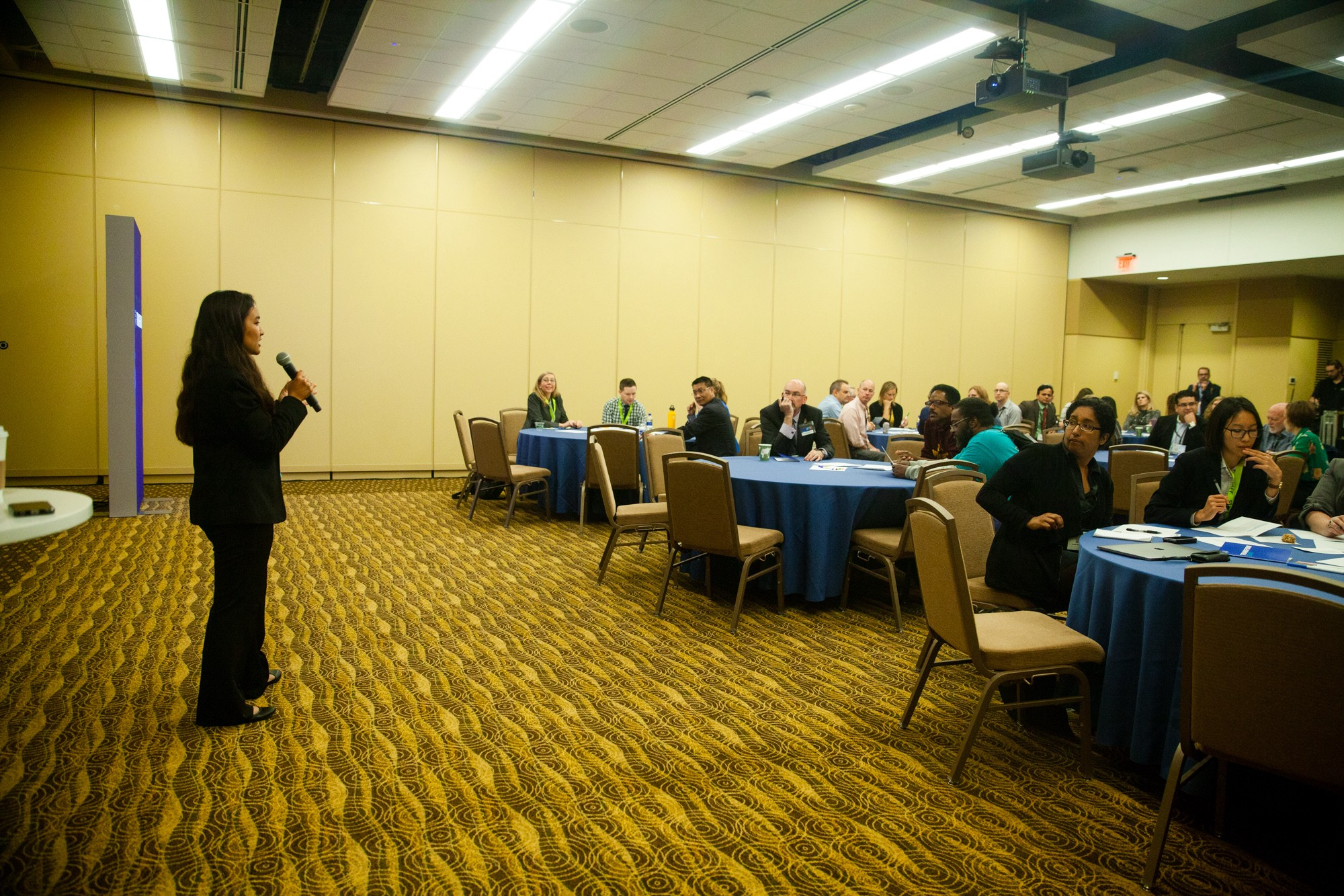 Anisha speaking at the breakout session