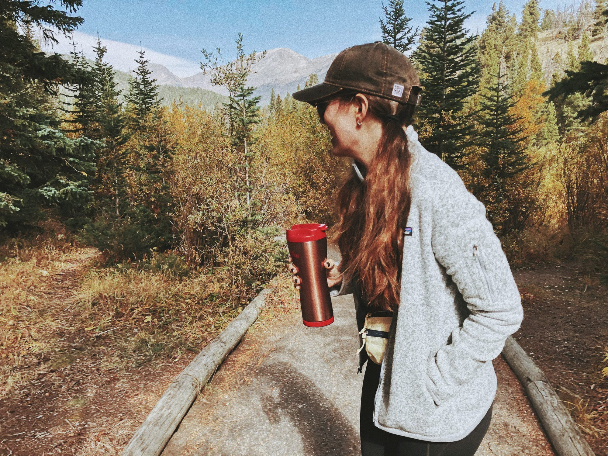 Nika Canlas Potts on a hiking trail in Colorado.