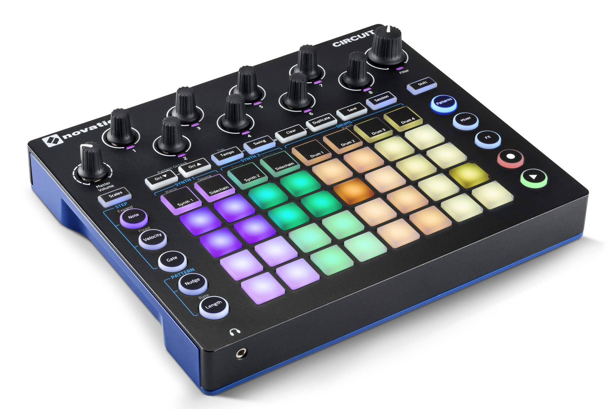 Novation Circuit of lights and colors.