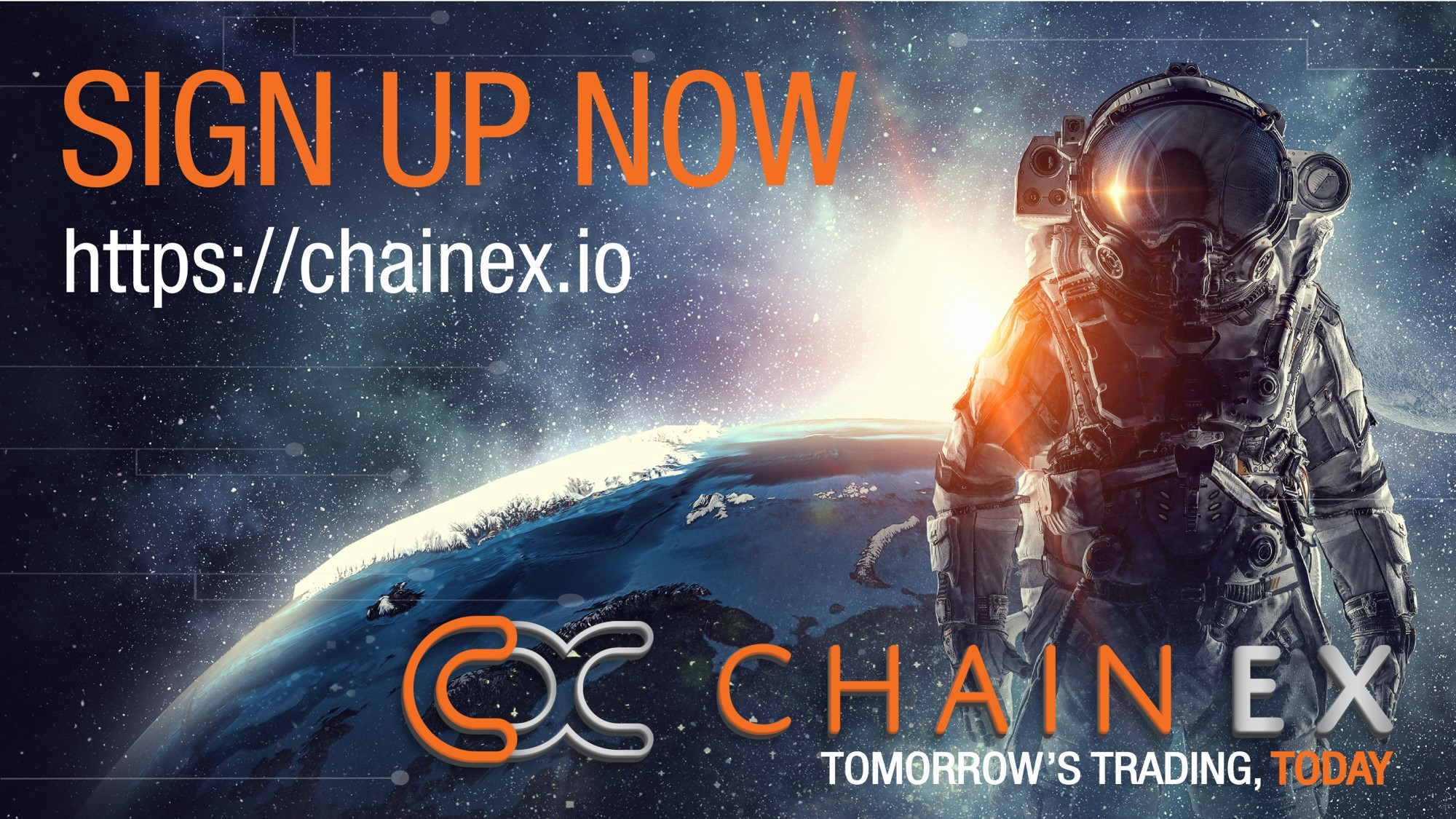 Sign up to ChainEX now