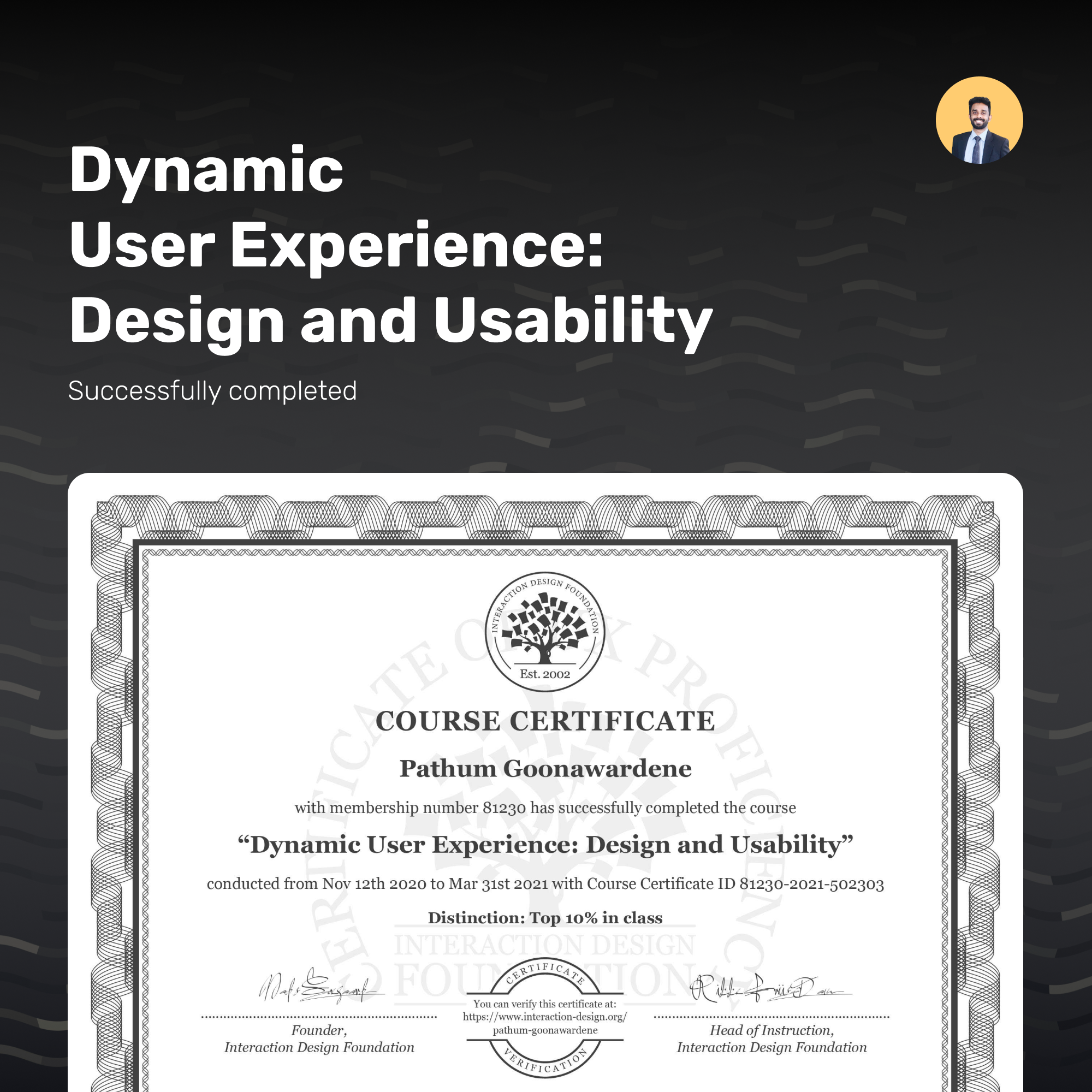 Dynamic User Experience: Design and Usability