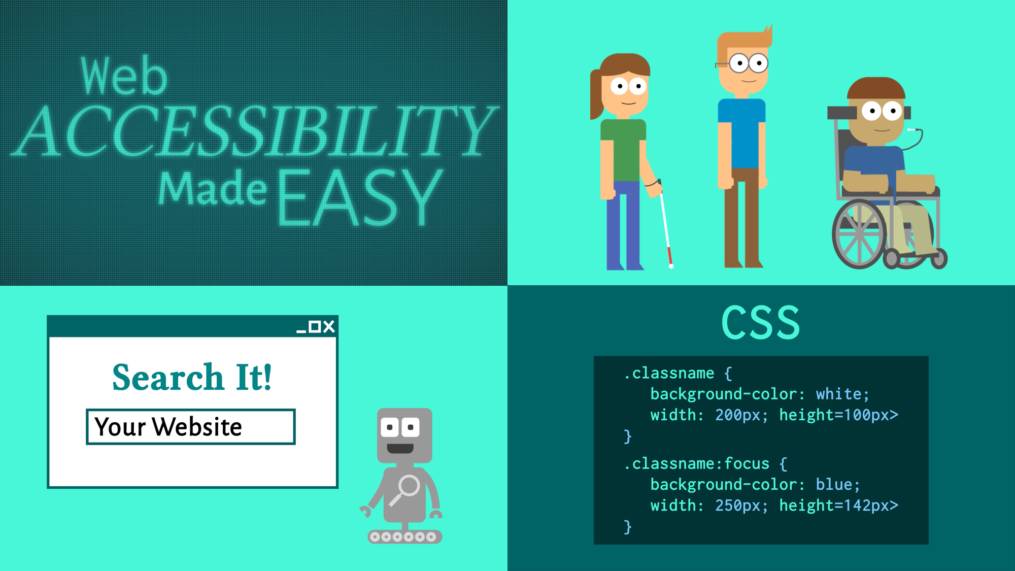 Scenes from Web Accessibility Made Easy