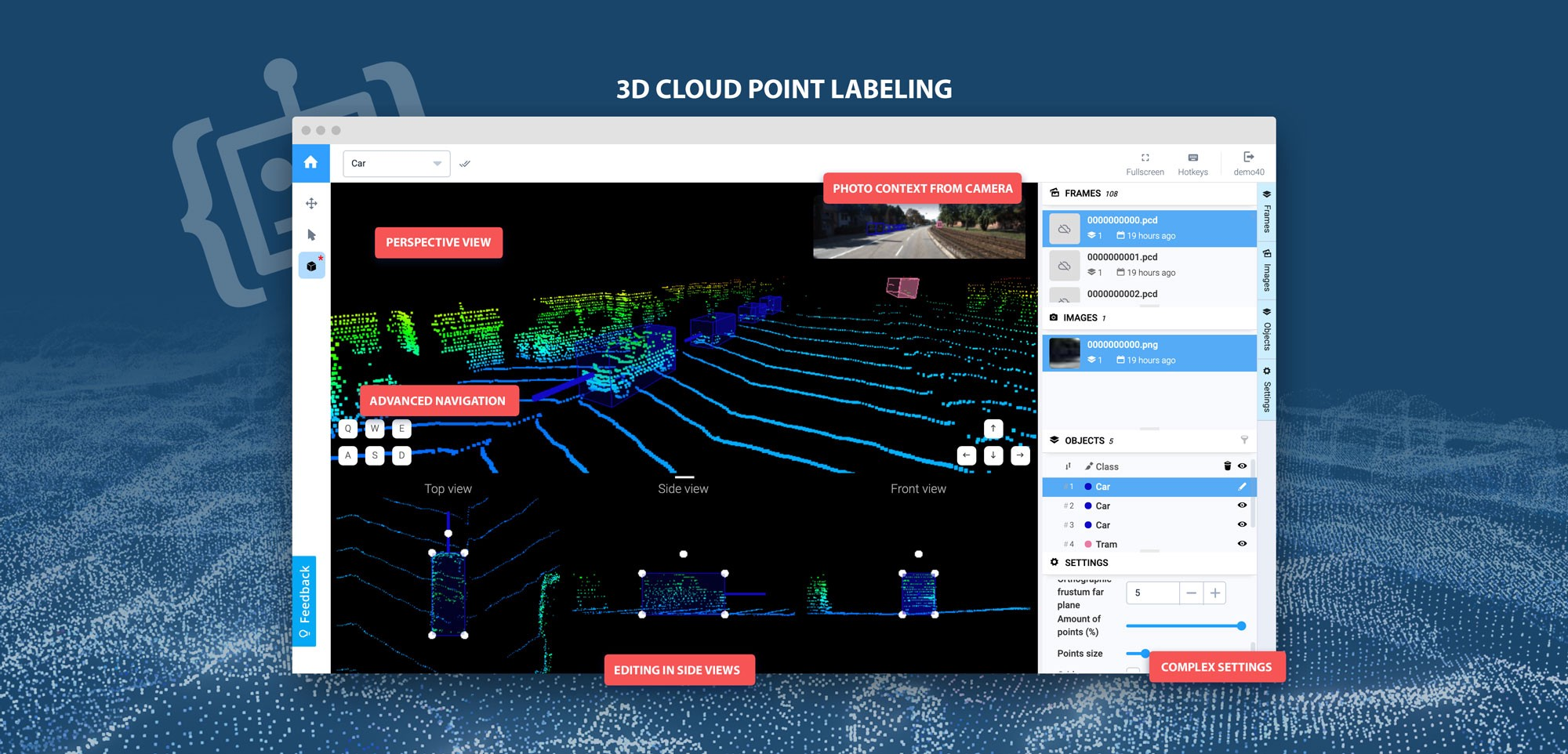 🎉 Releasing first online 3D Point Cloud labeling tool in