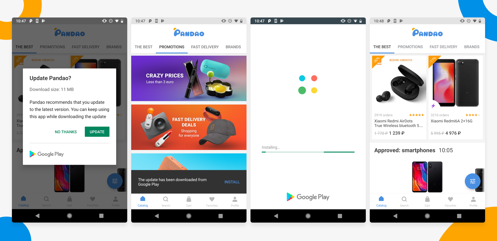 How Pandao Uses the In-App Updates Flexible Flow to Speed up