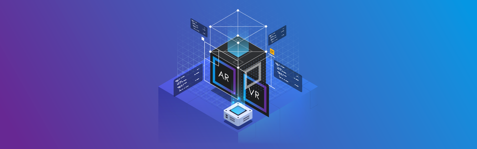 Augmented reality and virtual reality: some examples for