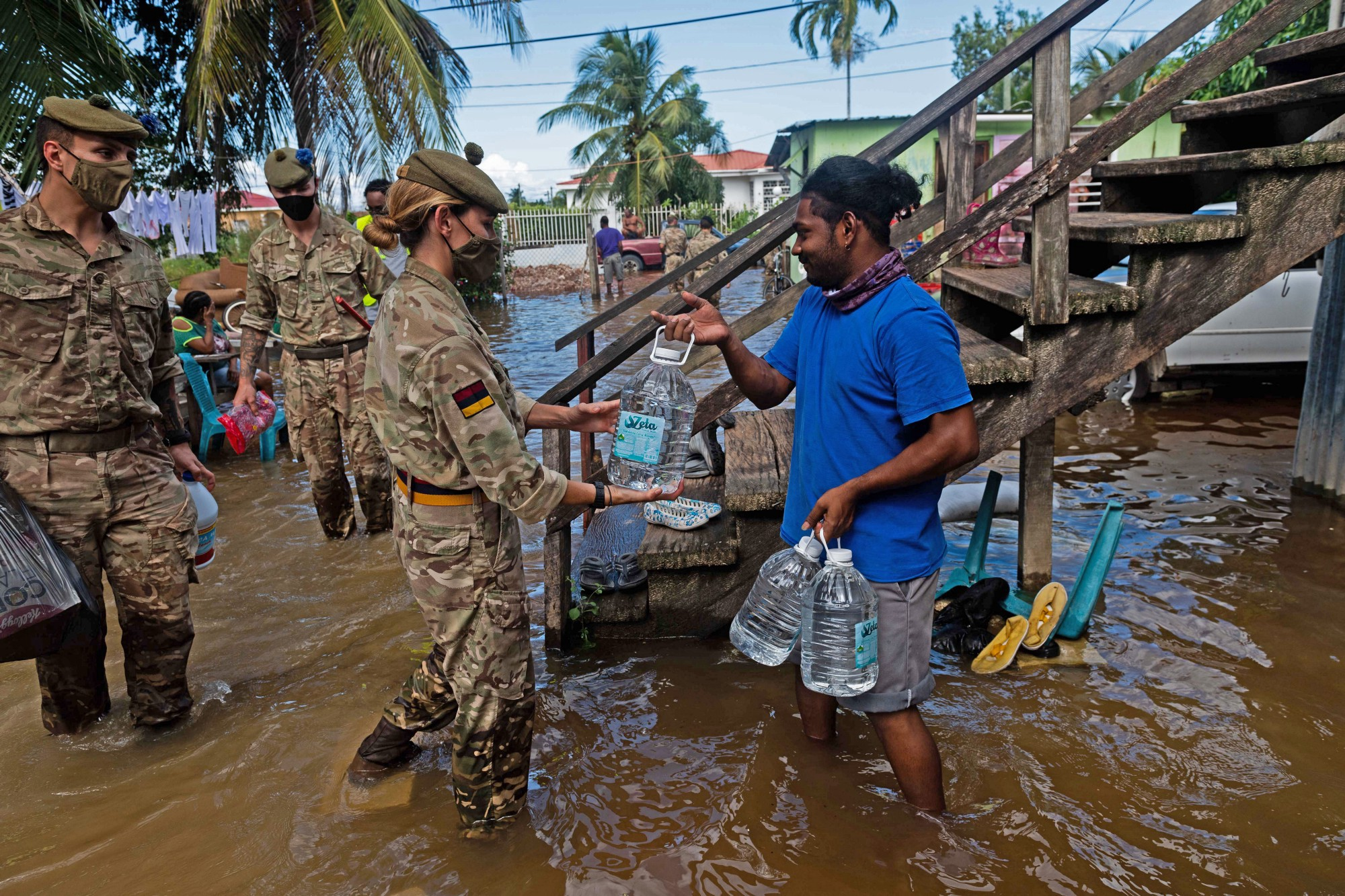 Humanitarian aid and disaster relief in the Caribbean.