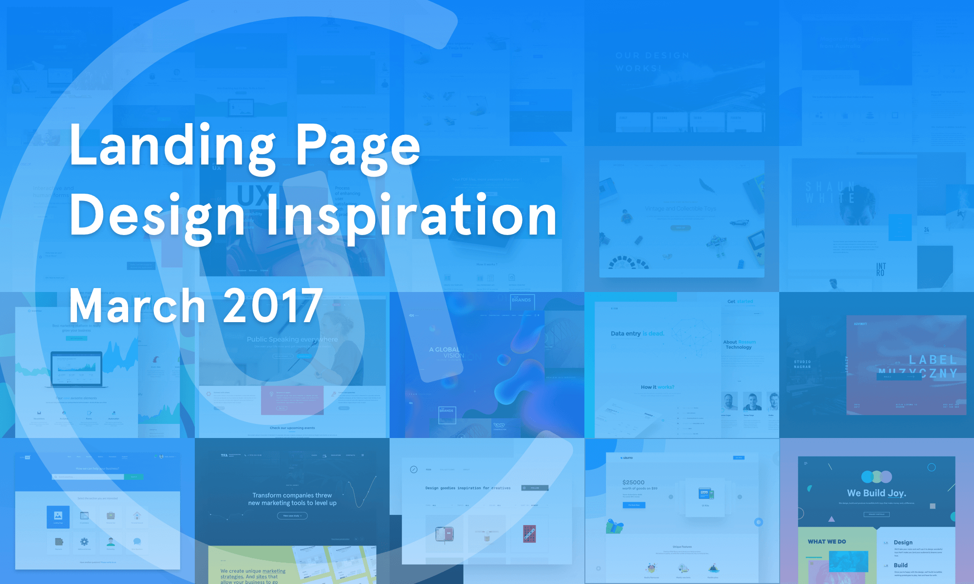Landing Page Inspiration March 2017 By Collect Ui Collect Ui Design Ui Ux Inspiration Blog Medium