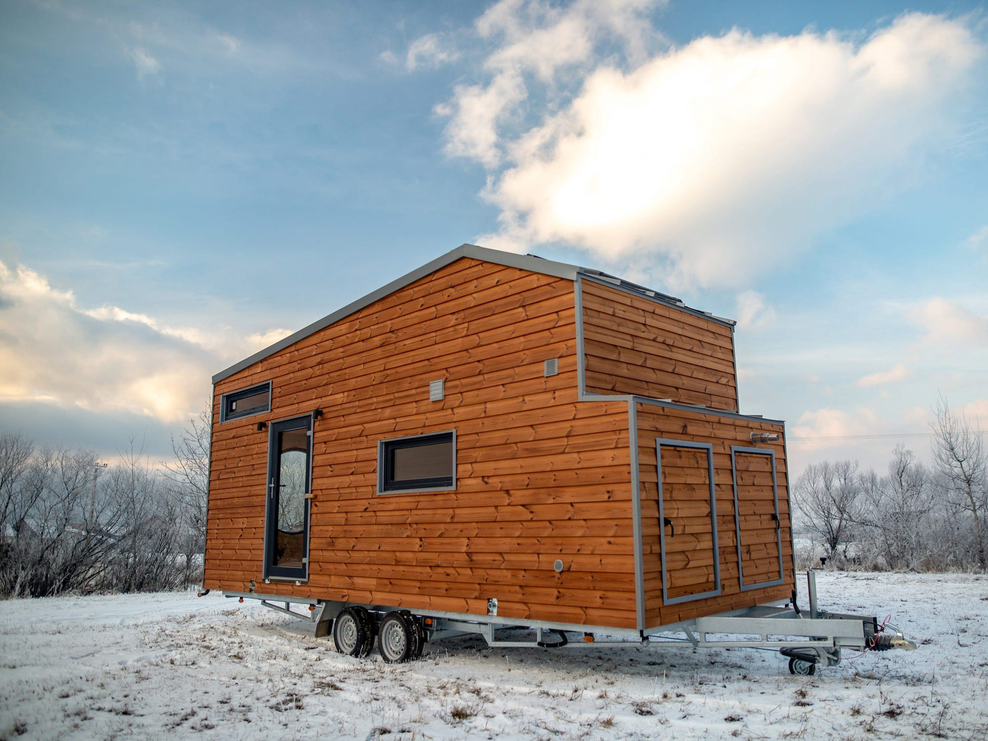 Tiny houses can be difficult in the winter.