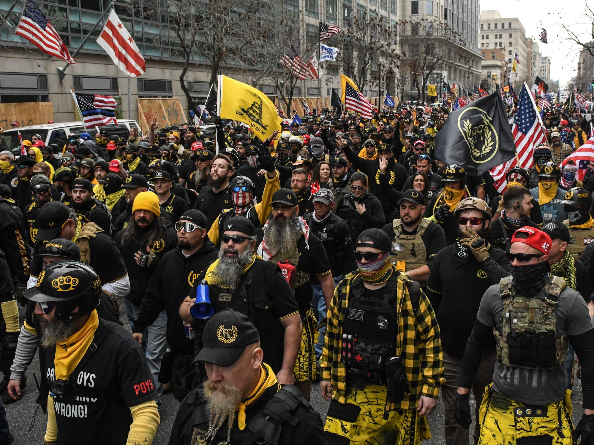 A Proud Boys demonstration.