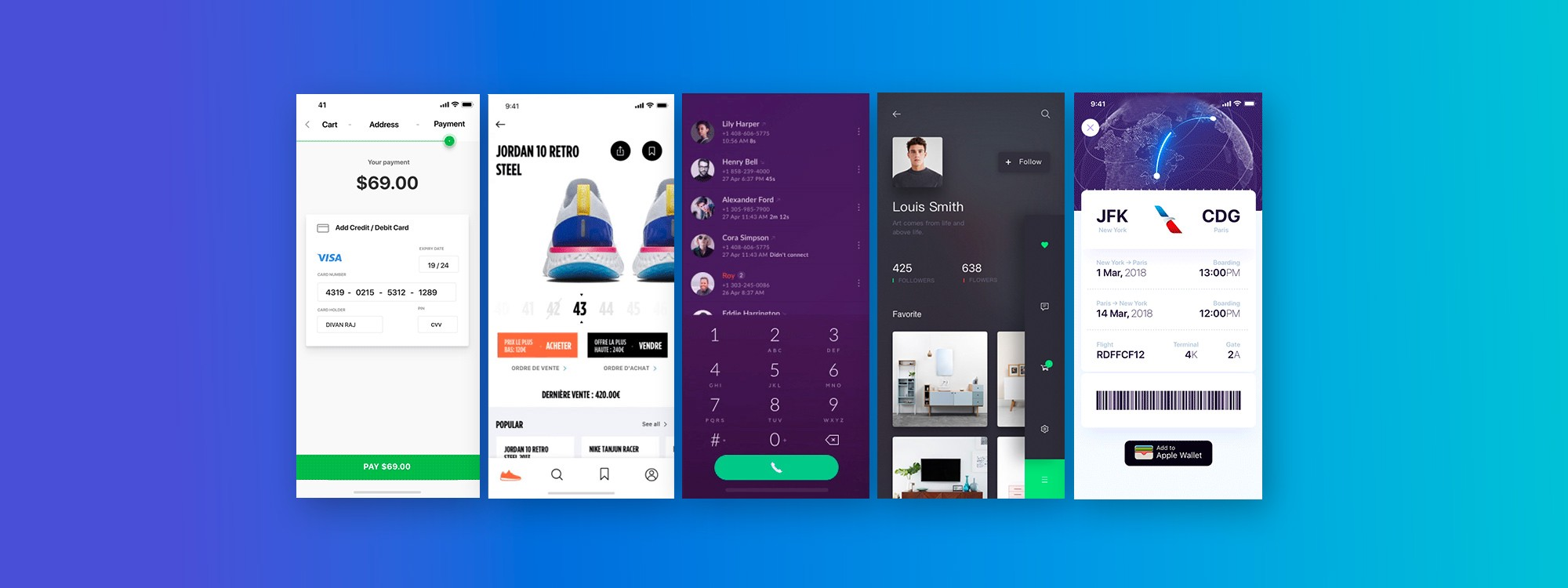 top 5 mobile interaction designs of july 2018 |proto.io