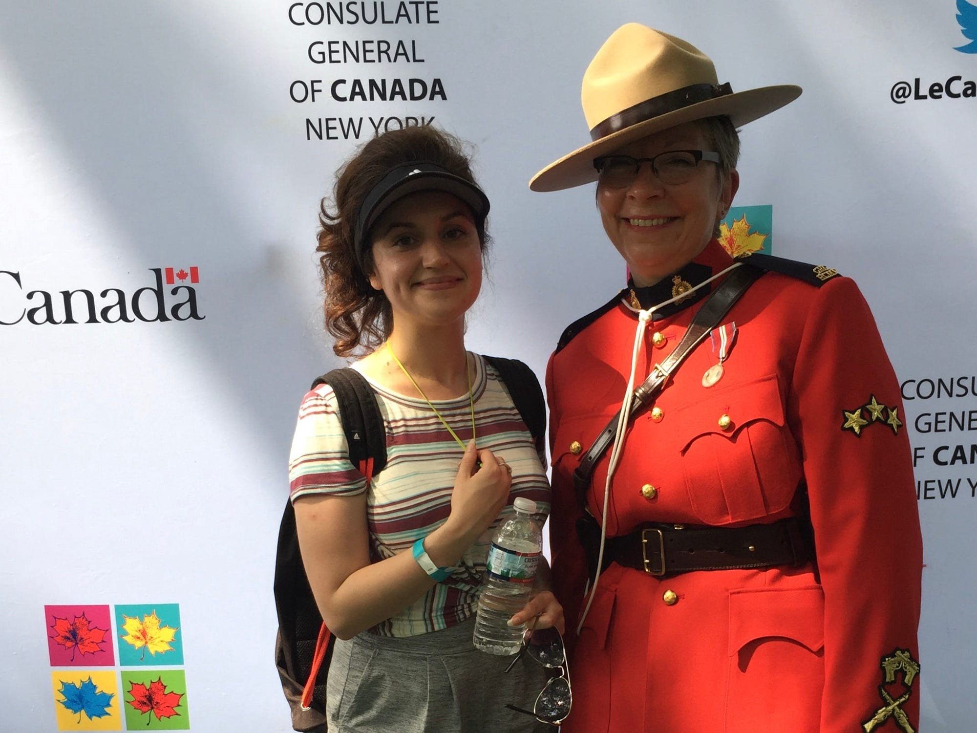 The author, Laila Maidan, left, at Canada Day celebrations in New York City.