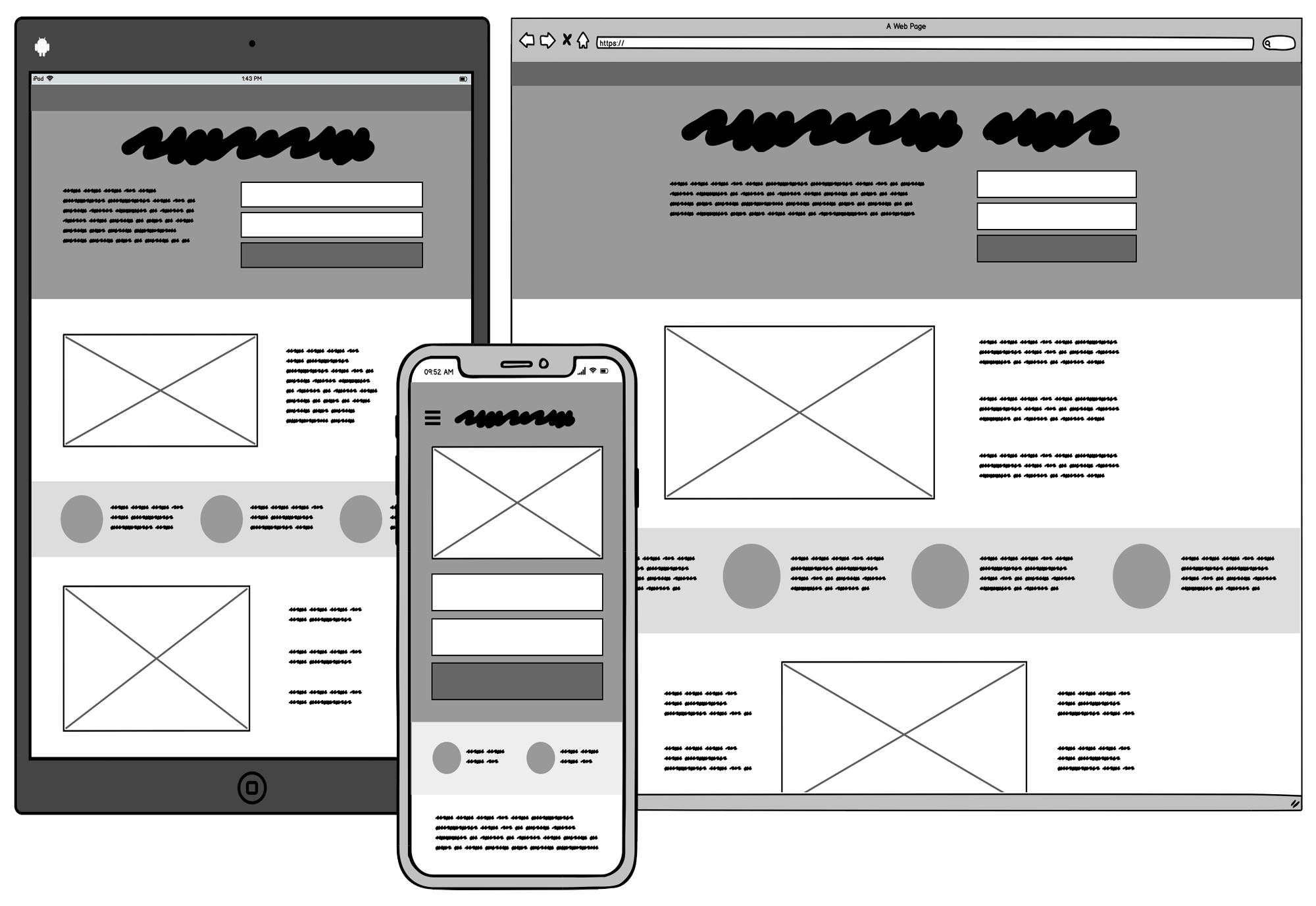 Typically Wireframes Looks like The System Of Various Components.