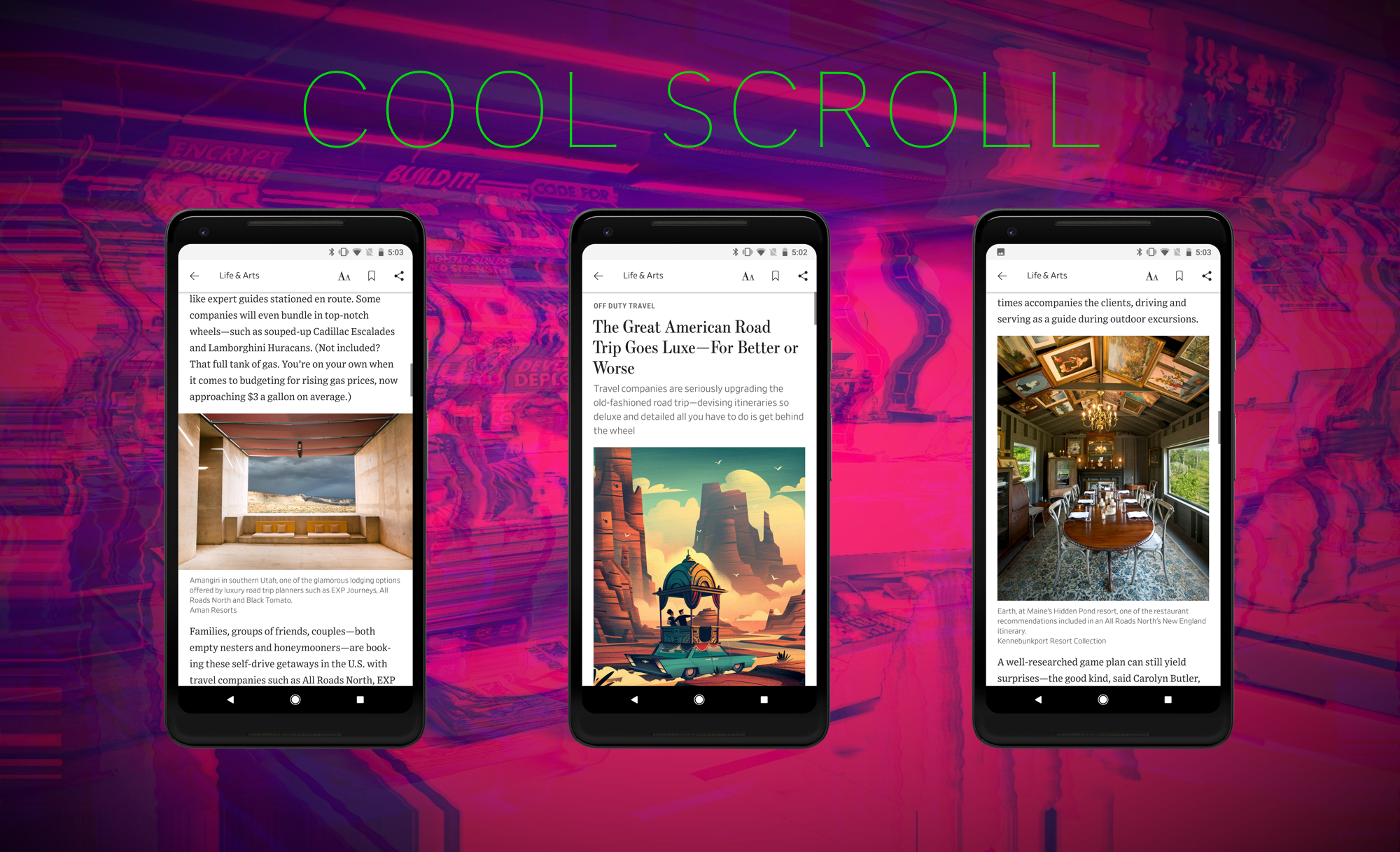 Scrolling in Android: Custom Scroll Behavior for a List of Varying