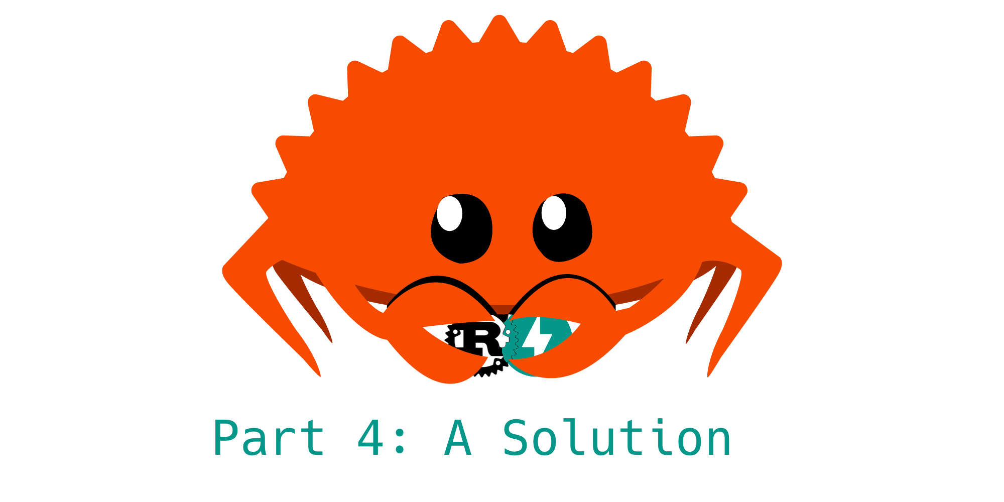 The Rust mascot 'Ferris the Crab' holds the logos for FastAPI and Rust and is smooshing them together.