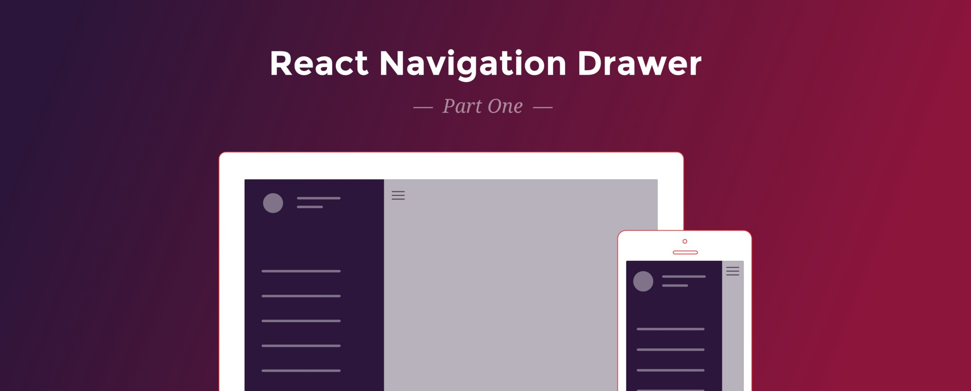 React Navigation Drawer Tutorial - Red Shift