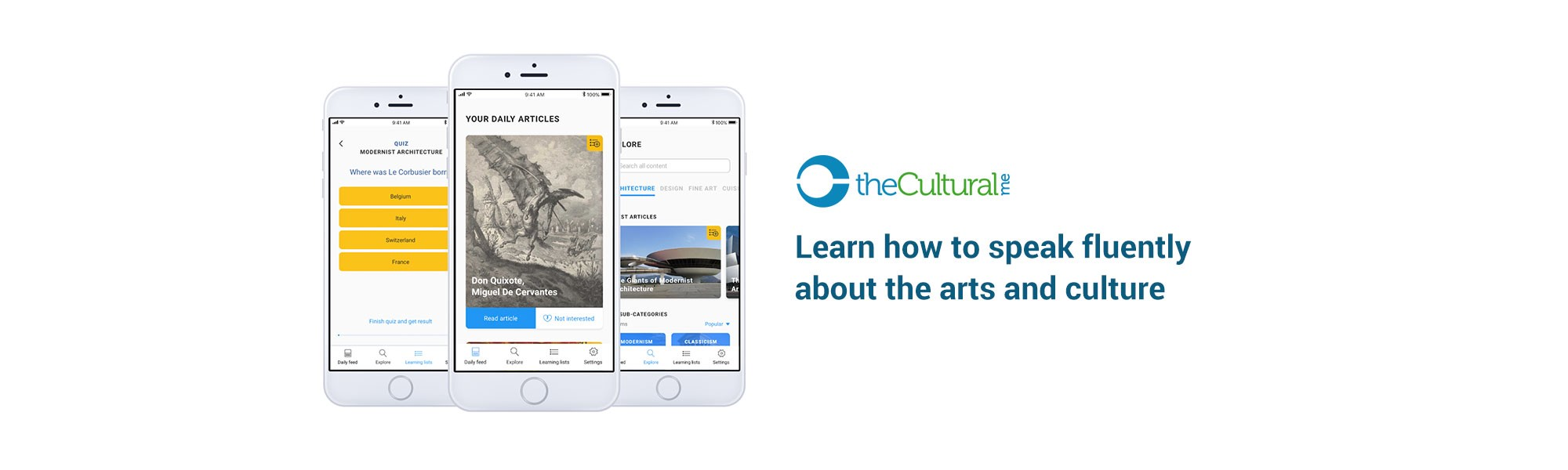 The Cultural Me: An app to help people to learn Arts