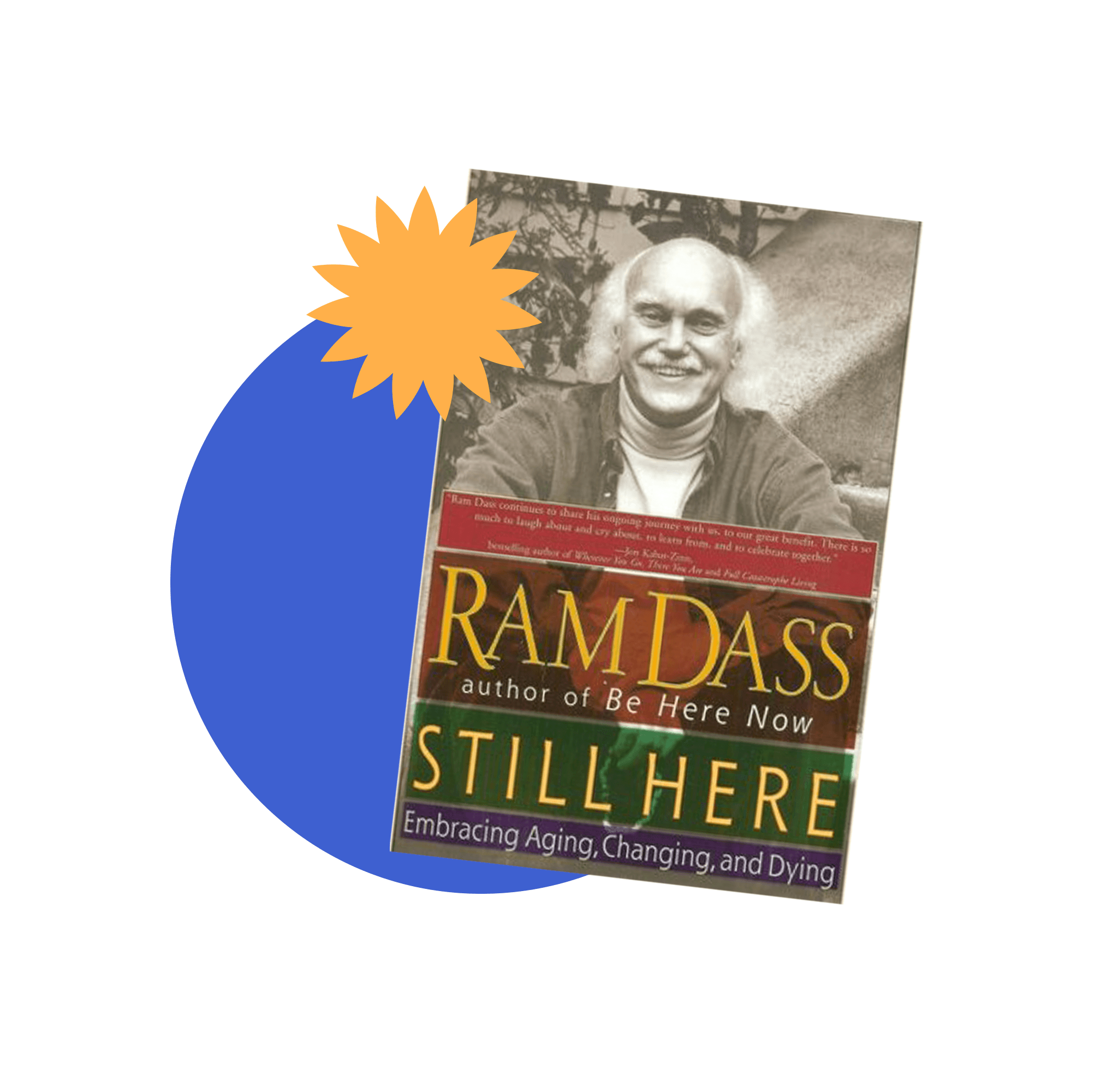 Book jacket cover for Still Here by Ram Dass