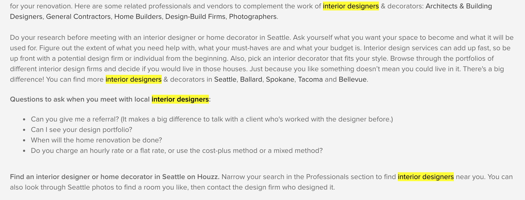 Why Does Houzz Do So Well In Google By Daniel Mcgwire Medium