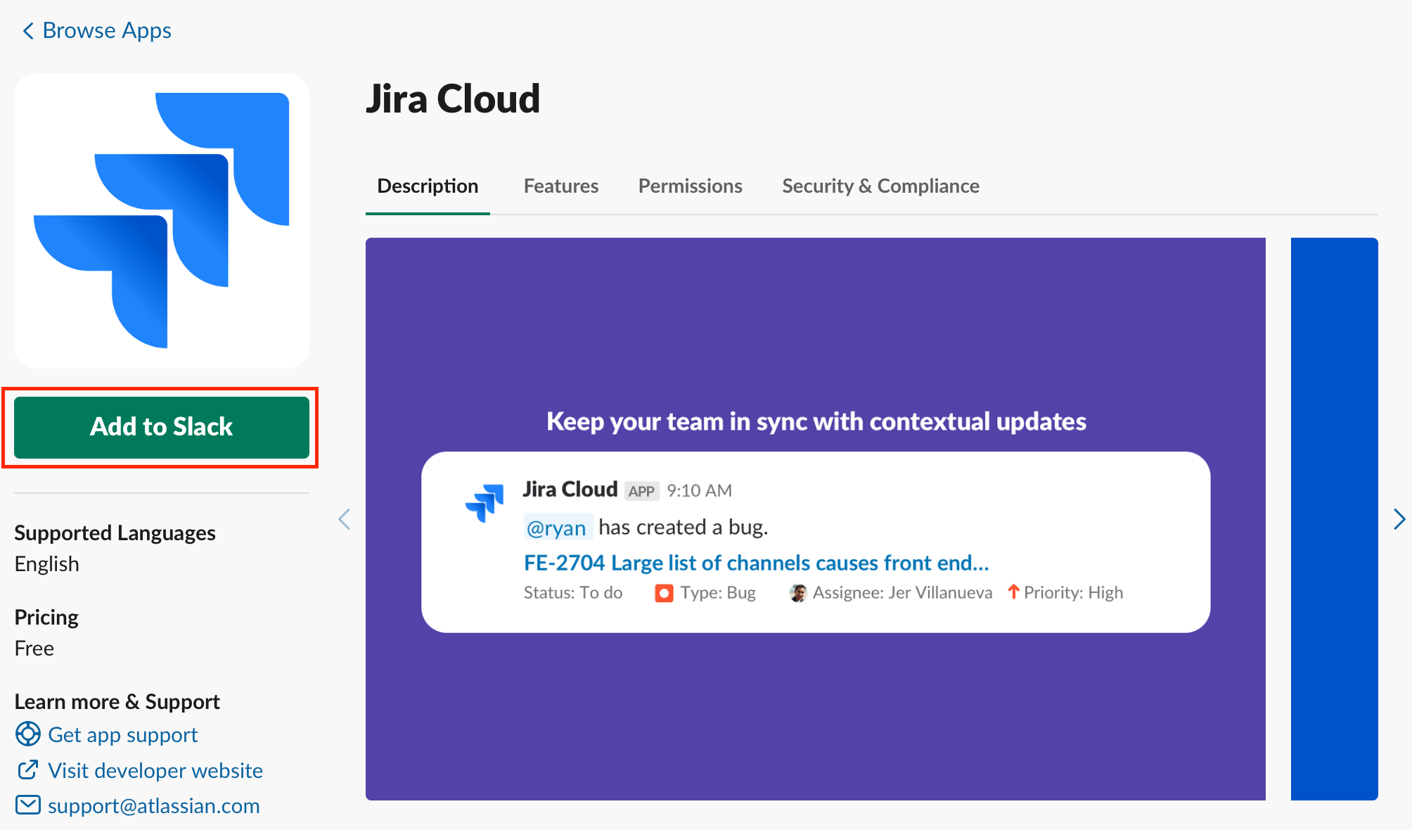 Jira Cloud — Slack app to show Atlassian Jira updates in your Slack channel