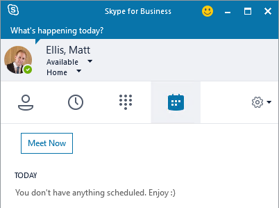 Skype for Business doesn't show your meetings on the