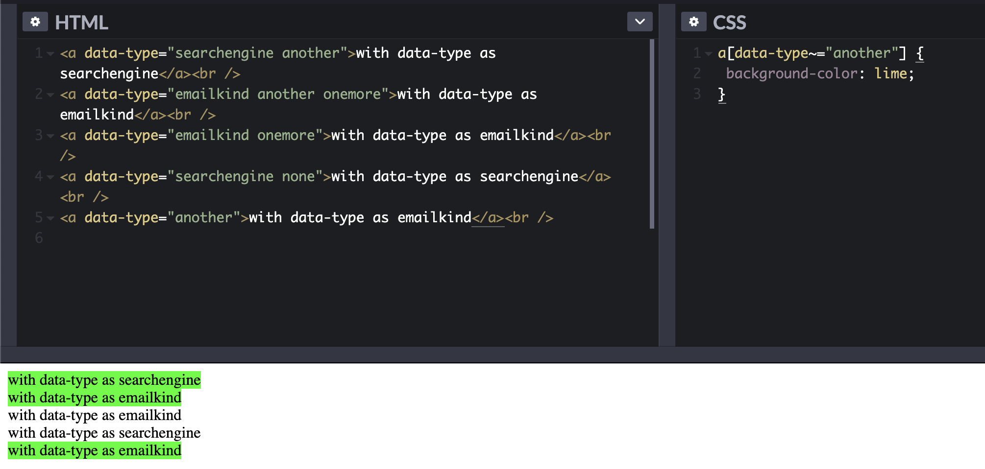 By Data Attribute—css tips and tricks 2020