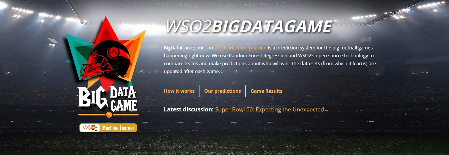 The BigDataGame - Predicting the Super Bowl with Machine